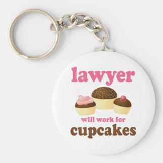 Grappig voor Advocaat Cupcakes zal werken Basic Ronde Button Sleutelhanger
