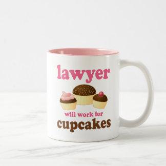 Grappig voor Advocaat Cupcakes zal werken Tweekleurige Koffiemok