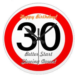 Grappige 30ste Grap 30 van de Verjaardag de Ronde Klok Large