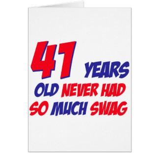grappige 41 jaar verjaardags wenskaart