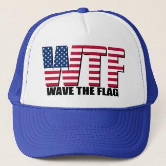 Grappige 4 van Juli, Golf WTF de Vlag Trucker Pet