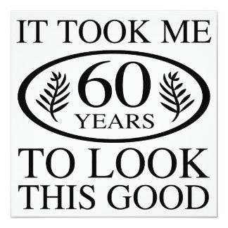 Grappige 60ste Verjaardag 13,3x13,3 Vierkante Uitnodiging Kaart