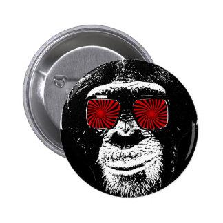 Grappige aap ronde button 5,7 cm