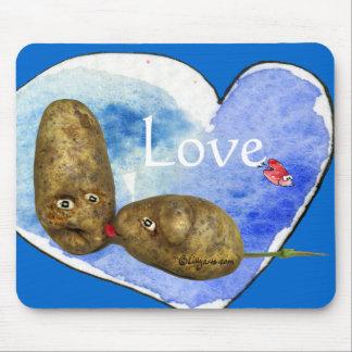 Grappige Aardappels in het Muismat van het Hart