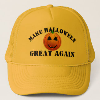 Grappige Amerikaanse pompoen Halloween Trucker Pet