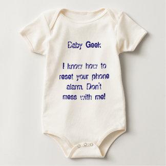 Grappige Babys van de Kinder Pret van Geek Onesy Baby Shirt