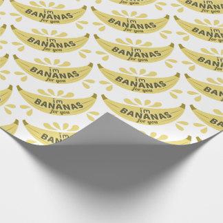 Grappige banaanillustratie ben ik bananen voor u inpakpapier