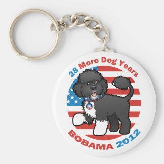 Grappige Bobama Hond 2012 Verkiezingen Basic Ronde Button Sleutelhanger