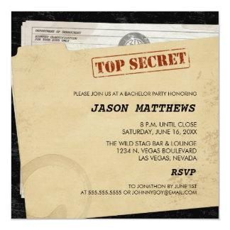 Grappige Bovenkant - de geheime Uitnodigingen van 13,3x13,3 Vierkante Uitnodiging Kaart