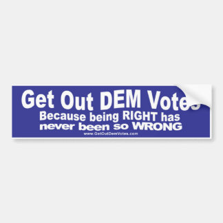Grappige bumperstickers voor Democraten