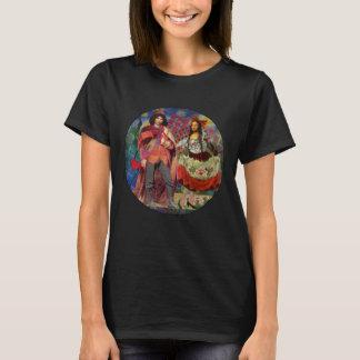 Grappige Capricieuze Mona Lisa Wedding Couple T Shirt