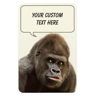 Grappige de douanemagneet van de Gorilla Rechthoek Magneten