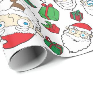 Grappige de giftomslag van Kerstmis van de Inpakpapier