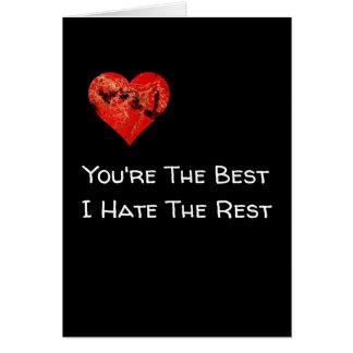 Grappige de Kaart van de Valentijnsdag u is de