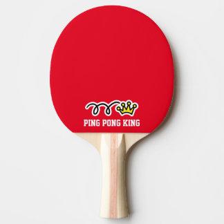 Grappige de kroonpeddel van de pingpongkoning voor tafeltennis bat