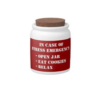 Grappige de noodsituatiekoekjestrommel van de koek porseleinen snoeppot