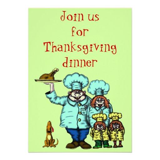 Grappige de uitnodigingskaart van de Thanksgiving Custom Uitnodging