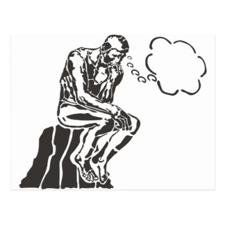Grappige Denker Rodin Briefkaart