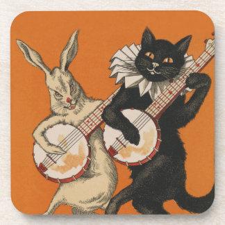 Grappige Dierlijke Onderzetters - Zwarte Kat en
