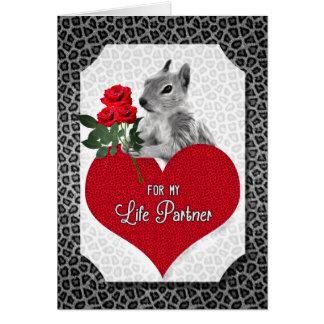 Grappige Eekhoorn Valentijn voor de Partner van Kaart
