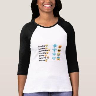 Grappige emoji t shirt