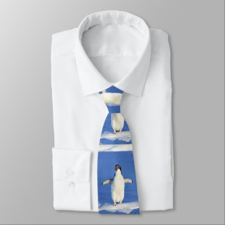 Grappige en leuke kleine babypinguïn custom stropdas