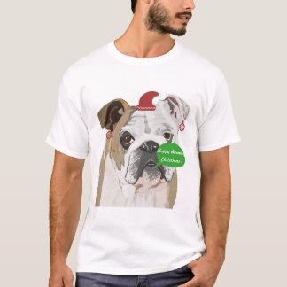 Grappige Engelse Kerstmis van de Buldog T Shirt