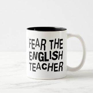 Grappige Engelse Leraar Tweekleurige Koffiemok