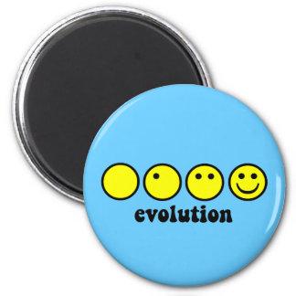 Grappige evolutie magneet