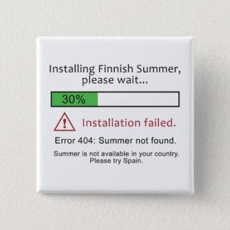 Grappige Finse de knoopknoop van de Zomer Vierkante Button 5,1 Cm