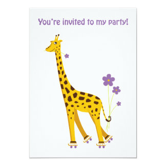 Grappige Giraf 12,7x17,8 Uitnodiging Kaart