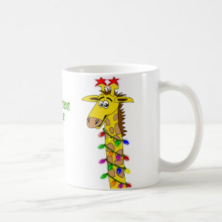 Grappige Giraf met Capricieuze Kerstmis van Koffiemok