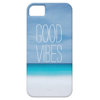Grappige goede vibes tropische oceaanfoto hipster barely there iPhone 5 hoesje