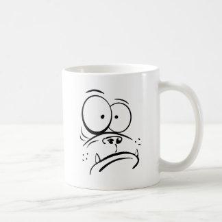 Grappige gorilla die verward cartoonafbeelding koffiemok