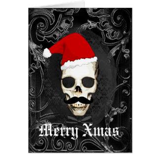 Grappige Gotische Kerstmis van de Kerstman Briefkaarten 0