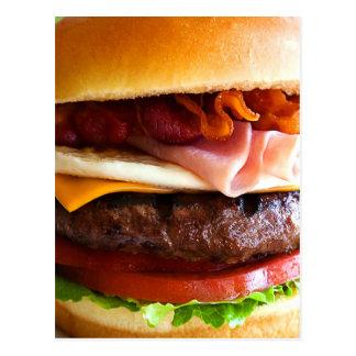 Grappige grote hamburger briefkaart