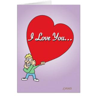 Grappige Grote Liefde Valentijn Kaart