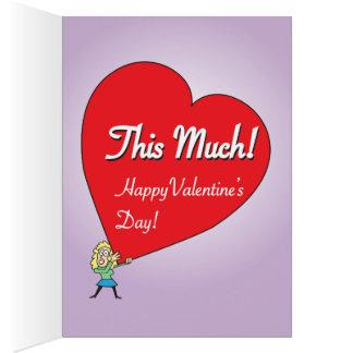 Grappige Grote Liefde Valentijn voor hem Briefkaarten 0