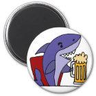 Grappige Haai die Bier drink Magneet