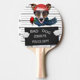 Grappige hefboom Russell, hond Mugshot Tafeltennis Bat