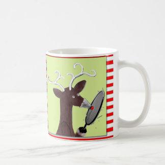 grappige het badmintonkop van Kerstmis Koffiemok