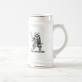 Grappige het biermok van samoeraien bierpul
