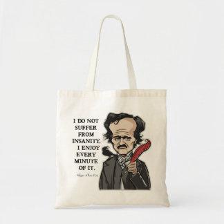Grappige het citaatzak van Edgar Allan Poe Draagtas