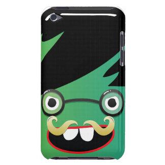 grappige het gezichtskerel van snor nerdy geek iPod touch hoesje