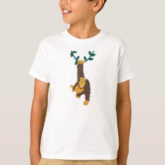 Grappige het grijnzen Gorilla die op wijnstok T Shirt