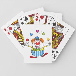 Grappige het Jongleren met van de Clown Speelkaarten