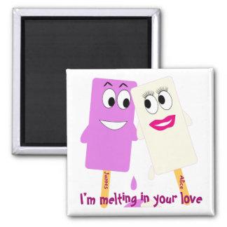 Grappige het roomijsMagneet van de Valentijnsdag Koelkast Magneetjes