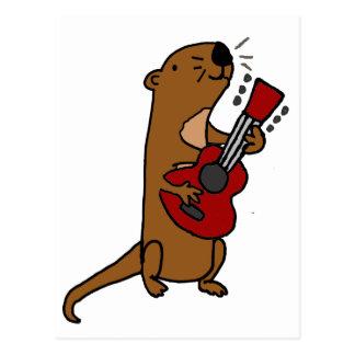Grappige het Spelen van de Otter van het Zee Briefkaart
