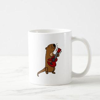 Grappige het Spelen van de Otter van het Zee Koffiemok