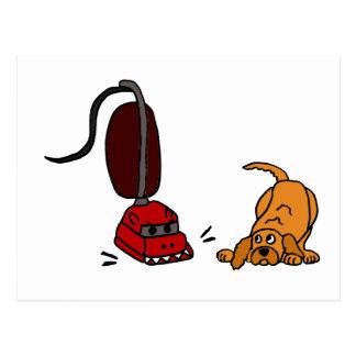 Grappige Hond Bang van Stofzuiger Briefkaart